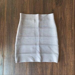 BCBGMaxAzria Dove Gray Bandage Mini Skirt